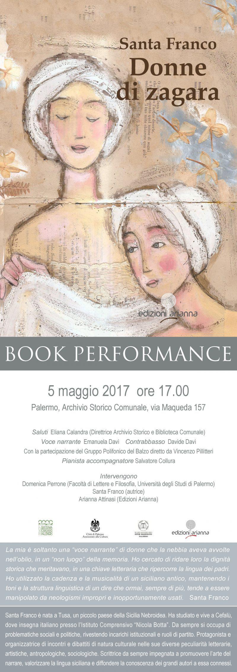 Donne di zagara Book Performance Palermo - Edizioni Arianna